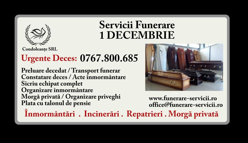 Servicii funerare 1 Decembrie - Ilfov