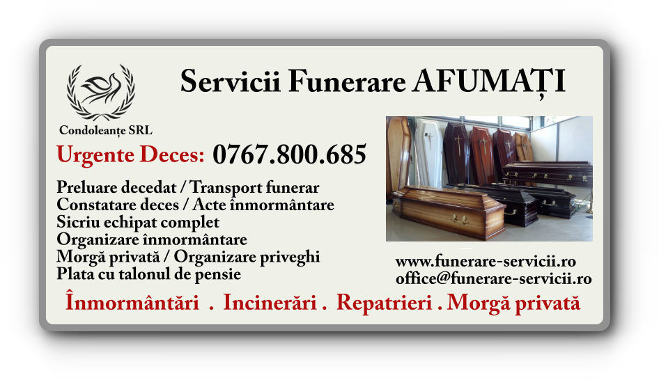 Servicii funerare Afumati