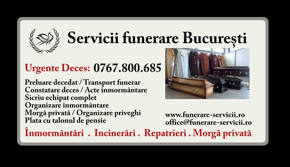 Servicii funerare Bucuresti