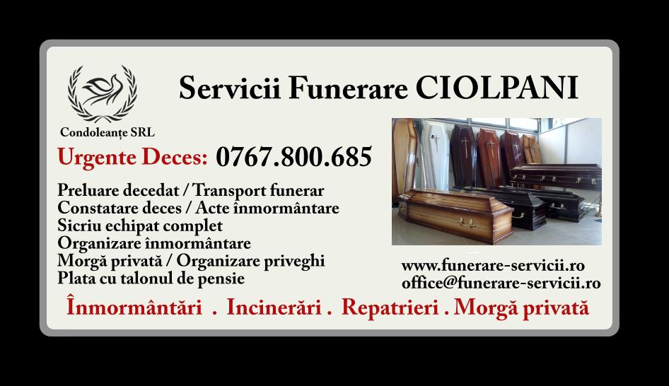 Servicii funerare Ciolpani