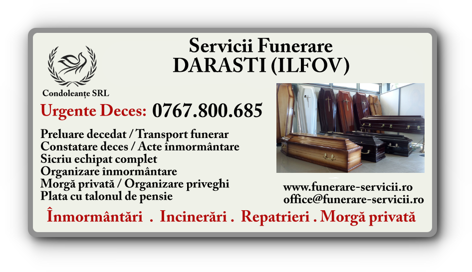 Servicii funerare Darasti Ilfov