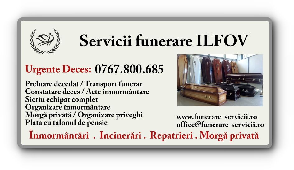 Servicii funerare Ilfov