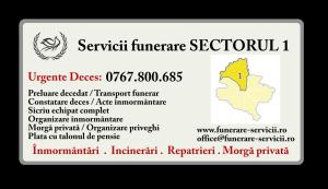 Servicii funerare Sectorul 1 Bucuresti