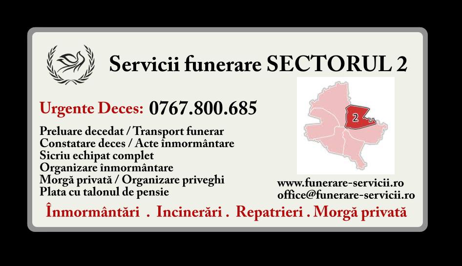 Servicii funerare Sectorul 2 Bucuresti