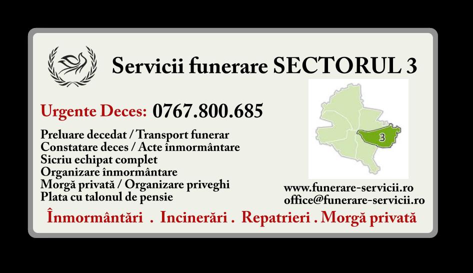 Servicii funerare Sectorul 3 Bucuresti