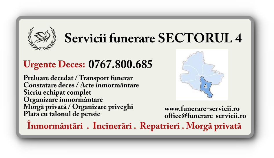 Servicii funerare Sectorul 4 Bucuresti