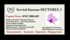 Servicii funerare Sectorul 5 Bucuresti