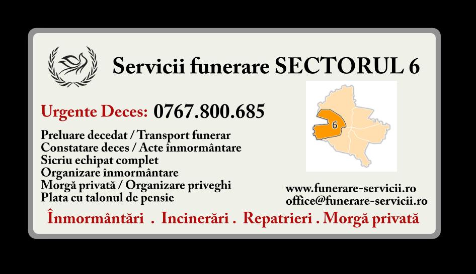 Servicii funerare Sectorul 6 Bucuresti