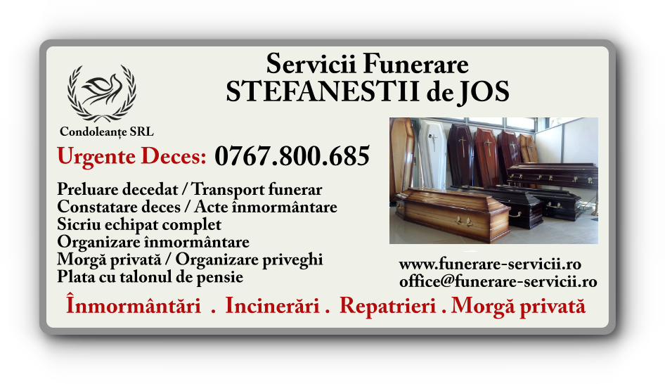 Servicii funerare Stefanestii de Jos