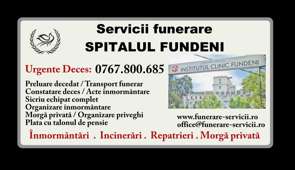 Servicii funerare Spitalul Fundeni Bucuresti