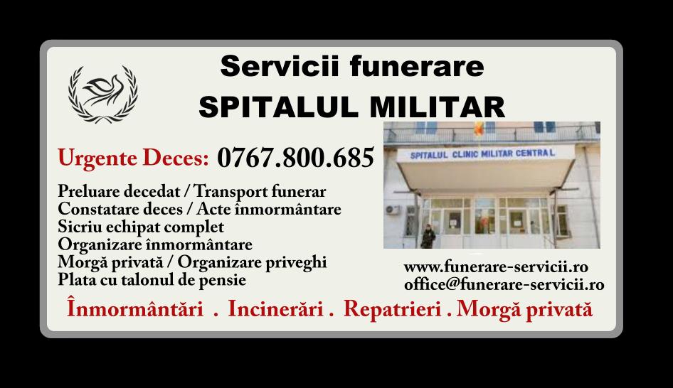 Servicii funerare Spitalul Militar Bucuresti