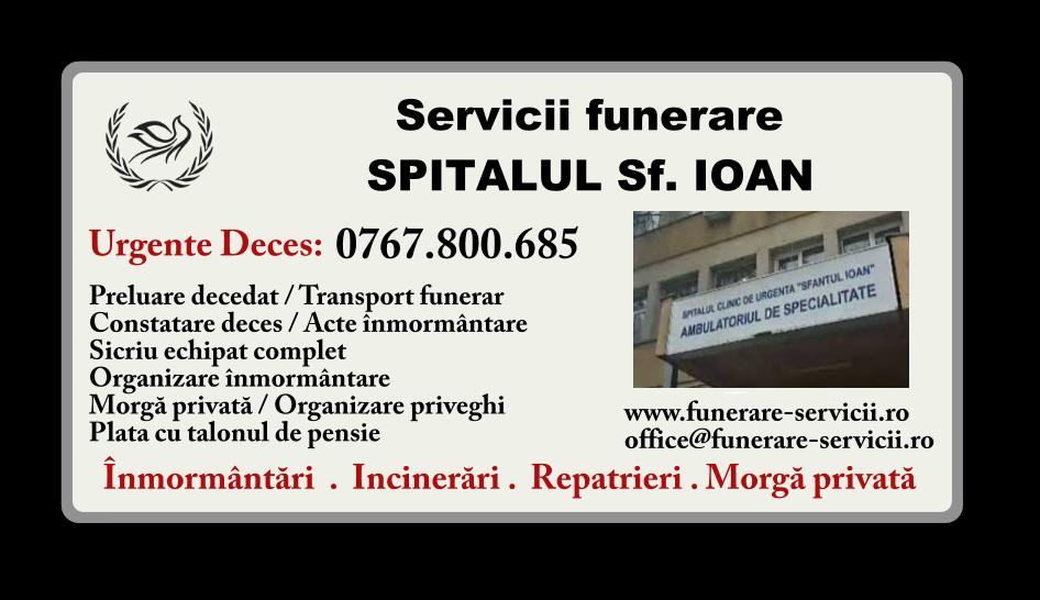 Servicii funerare Spitalul Sf. Ioan