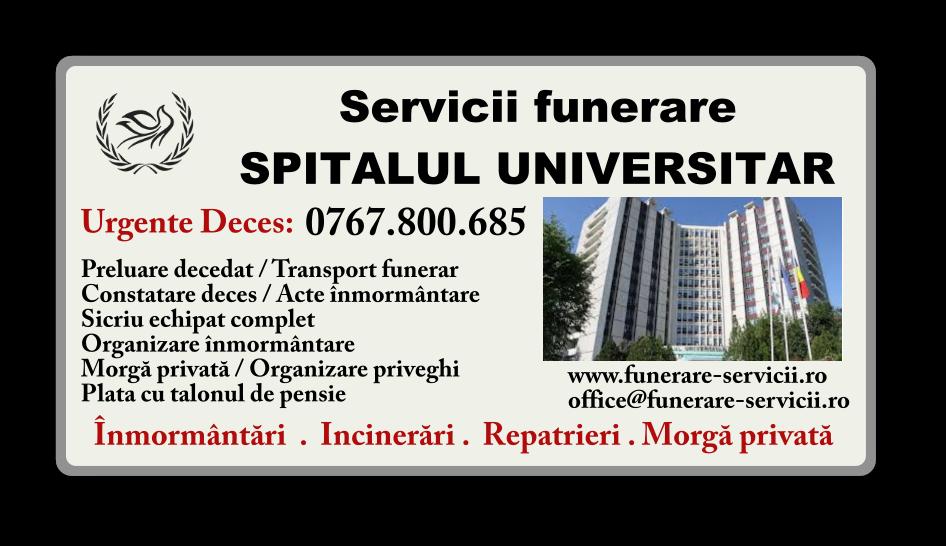 Servicii funerare Spitalul Universitar